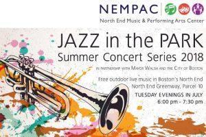 NEMPAC Jazz in the Park Summer Concert Series 2018