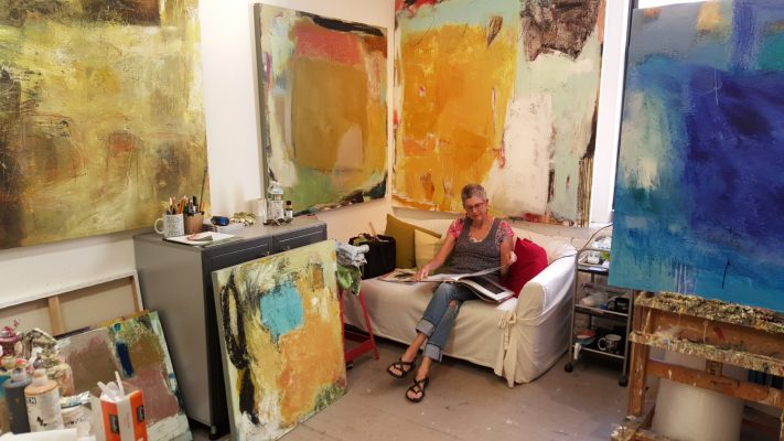 Artist Ellen Rolli at the Artist Studio Building