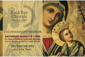 Back Bay Chorale presents Sergei Rachmaninoff's The Vespers (All-Night Vigil)