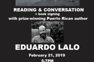Reading & Conversation with Puerto Rican author Eduardo Lalo