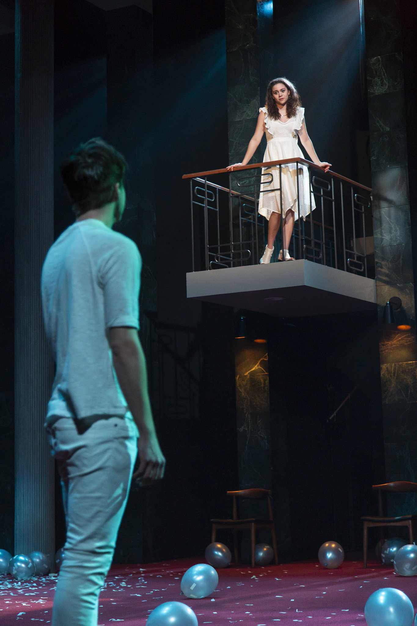 Lily Santiago and George Hampe ROMEO AND JULIET Huntington Theatre Company Avenue of the Arts / Huntington Avenue Theatre March 1 - 31, 2019 Photo: T. Charles Erickson