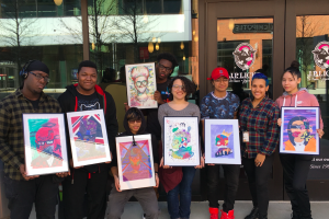 Artist Reception for Boston Arts Academy students and Jamie Kendrioski