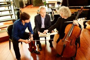 Joshua Bell, violin; Steven Isserlis, cello; & Jeremy Denk, piano