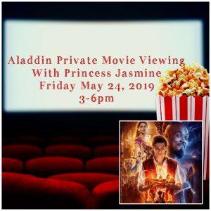 Aladdin Movie Private Viewing with Princess Jasmine