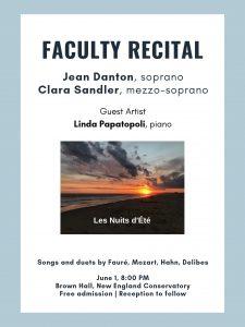 Les Nuits d'Été, Faculty Recital at New England Conservatory