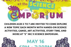 """3rd Thursdays at """"e""""inc.'s Science Emporium"""