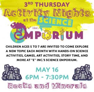 "3rd Thursdays at ""e""inc.'s Science Emporium"
