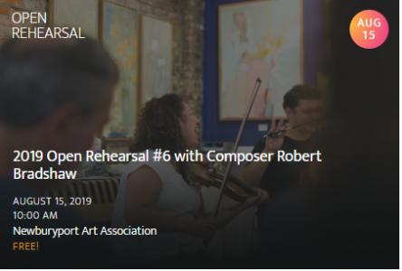Newburyport Chamber Music Festival: Open Rehearsal #6