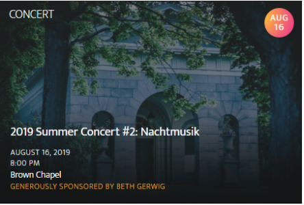 NEWBURYPORT CHAMBER MUSIC FESTIVAL: Concert #2