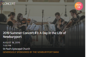 NEWBURYPORT CHAMBER MUSIC FESTIVAL: CONCERT #3