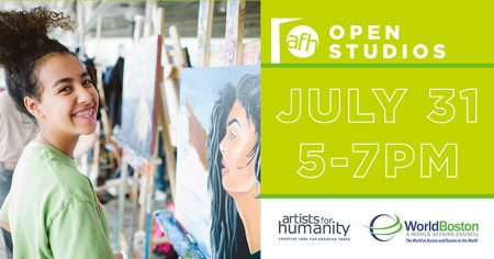 Global Engagement Through the Arts: Artists For Humanity x WorldBoston July Open Studios (7/31)