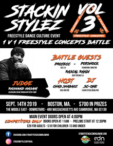 1 v 1 Freestyle Dance Battle (Day 1 of Stackin' Stylez Freestyle Dance Festival )