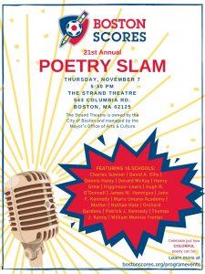 21st Annual Boston Scores Poetry Slam!