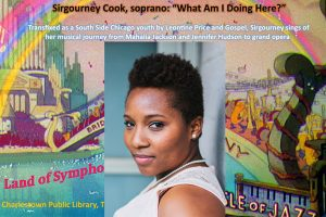 """Vocalist Sirgourney Cook's """"What Am I Doing Here?"""" : live music performance."""