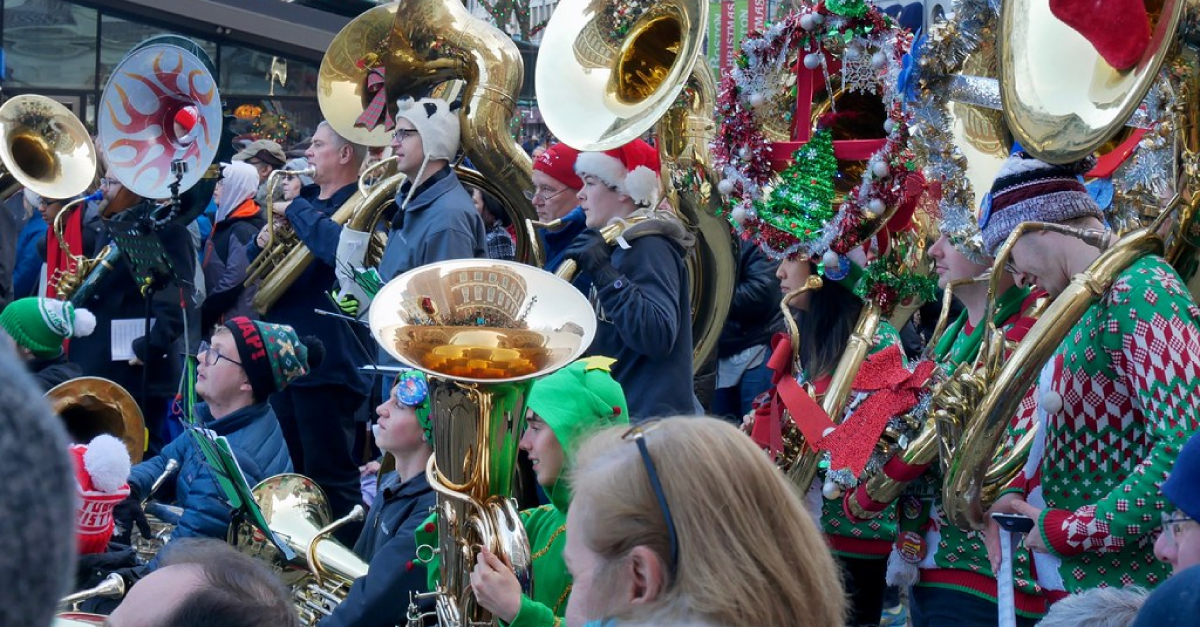 Boston Christmas Tubas at Faneuil Hall 2019