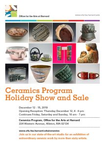 Ceramics Program Holiday Show and Sale 2019