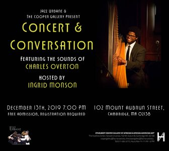 Concert & Conversation: Featuring Charles Overton, hosted by Ingrid Monson