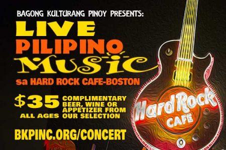 Live Pilipino Music sa Hard Rock - Boston
