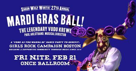 27th Annual Mardi Gras Ball: A Benefit for Girls Rock Campaign Boston