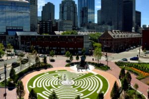 Annual Reconfiguration of the Abstract Sculpture, Armenian Heritage Park on The Greenway
