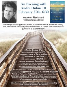 An evening with Acclaimed Author Andre Dubus III