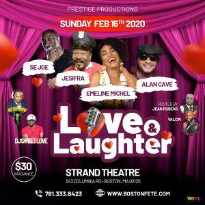 Love & Laughter featuring Emeline • Jesifra • Alan Cave • Se Joe