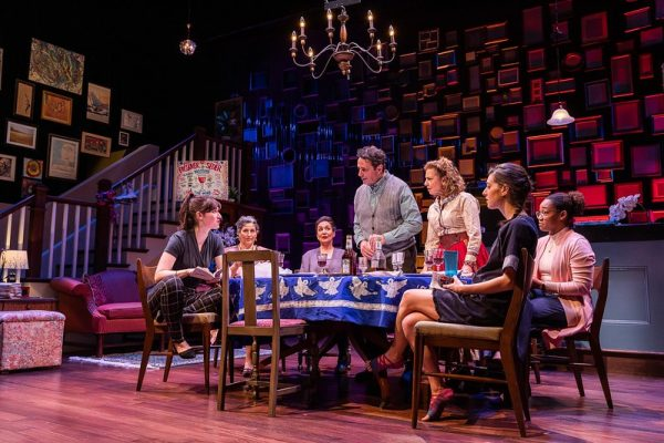 The cast of the Huntington Theatre Company's production of We All Fall Down