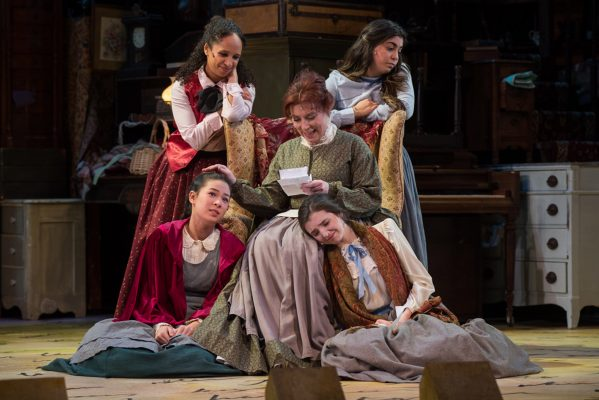 Cast of Little Women, the musical at Wheelock Family Theatre