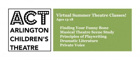 Virtual Theatre Classes for Teens at ACT!!