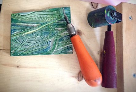 Printmaking Without A Press (And At Home)
