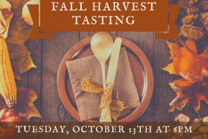 Fall Harvest Tasting
