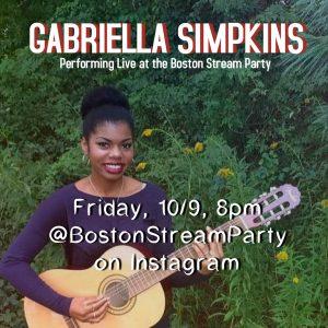 Gabriella Simpkins @BostonStreamParty on Instagram...