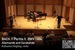 Video: Bach Violin Partita -Benjamin Zander Interpretations of Music