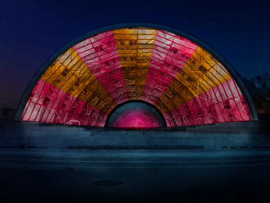 """Hatched: Breaking through the Silence,"" a Projection-Mapping and Sonic Public Art Work"