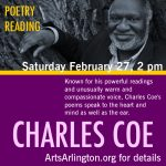 Reading by Poet Charles Coe