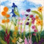 Spring Garden Wool Painting