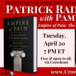 Virtual: Patrick Radden Keefe with Pamela Colloff, Empire of Pain