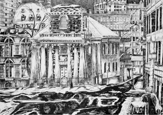 City Drawing & Illustration