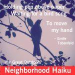 Write a Neighborhood Haiku: The Great Outdoors