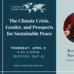 The Climate Crisis, Gender, and Prospects for Sustainable Peace