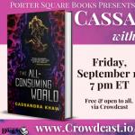 Virtual: Cassandra Khaw with P. Djèlí Clark, The All-Consuming World