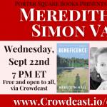 Virtual: Meredith Hall and Simon Van Booy