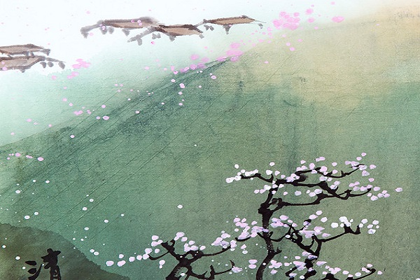 Chinese Brush Painting: Landscape with Qingxiong M...
