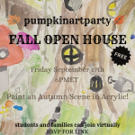 Autumn Paint-Along - free and virtual painting event for students and families
