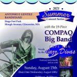 19-Piece Compaq Big Band With the 'Cape Ann Jazz Divas' at FREE Antonio F. Gentile Summer Concert