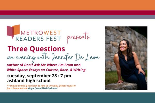 Three Questions: An Evening with Jennifer De Leon