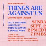 Virtual: Lucy Ellmann, Things are Against Us
