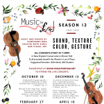 """Music for Food presents """"Sound, Texture, Color, Ge..."""