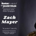 The Boston Festival of New Jewish Music 1.1. Zach ...