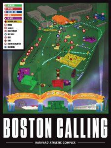 Boston Calling Festival Map